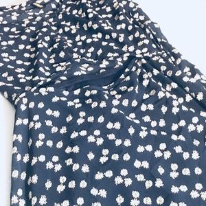 DIVIDED Blue and White Dress w/ small flowers - S